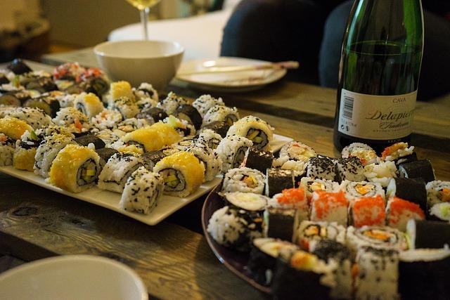 wijn bij sushi